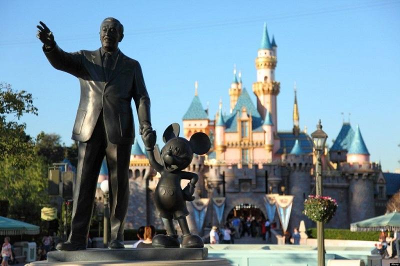 Estátua de Walt Disney: Disneyland California