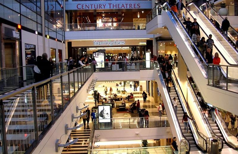 Compras em shopping - Califórnia